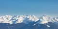 Alpine Mountain Peaks Panorama Royalty Free Stock Photo