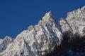 Alpine peack aiguille noire de peuterey monte bianco s massif Royalty Free Stock Image