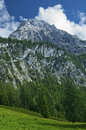 Alpine peak with clouds tyrol bavaria Royalty Free Stock Image