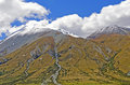 Alpine peaks in spring snow unnamed near mt potts station new zealand Stock Photography