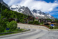 Alpine Resort Courmayeur, Italy Stock Image