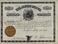 The alpine silver mining company stock certificate rare colorado document Stock Image