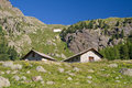 Alpine stone houses Stock Images