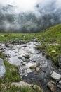 Alpine torrent an in the italian alps Stock Photo