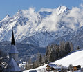 Alpine town Royalty Free Stock Photo