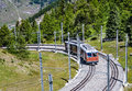 Alpine train in switzerland zermatt from to gornergrat alps european landmark Stock Images