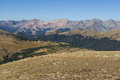Alpine tundra in the rocky mountains a fragile ecosystem Royalty Free Stock Photos