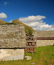 Alpine typical stone architecture, Alpe Veglia. Royalty Free Stock Image