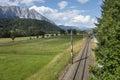 Alpine valley Stock Photography