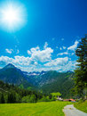 Alpine village a beautiful called gramais in the lechtal alps Stock Photography
