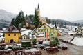 Alpine village Prein on the RAX in winter. Lower Austria Royalty Free Stock Photo