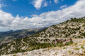 Alps alpes de provence a typical view of the rocky landscape near marseille in south france Royalty Free Stock Images