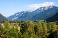 Alps in bavaria countryside germany Stock Photo