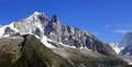 Alps chamonix france mountain with snow at Stock Photo