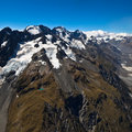 Alps enorma New Zealand Arkivfoto