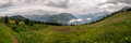 Alps, France (Col de Voza) - Panorama Royalty Free Stock Photo