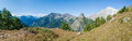 Alps, France (by Courmayeur) - Panorama Stock Photography
