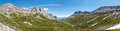 Alps, France (by Courmayeur) - Panorama Royalty Free Stock Photography