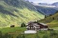 Alps Mountain House Royalty Free Stock Photo