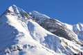 Alps, mountain range covered in the snow, winter Royalty Free Stock Photo