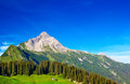 Alps mountains and sky summer landscape Stock Photo