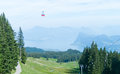 Alps resort funicular and near lucern switzerland Royalty Free Stock Photography