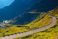 Alps road in swiss mountains Royalty Free Stock Photos