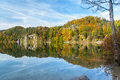 Alpsee in fall sea hohenschwangau near munich bavaria germany Stock Photo