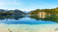 Alpsee lake austria photographed in Royalty Free Stock Photo
