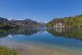 Alpsee lake at hohenschwangau bavaria germany Royalty Free Stock Images