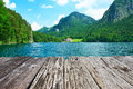 Alpsee lake at hohenschwangau near munich in bavaria germany Royalty Free Stock Photography