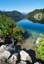 Alpsee lake view of in bavaria germany Royalty Free Stock Photo