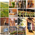 Alsace france collage variety of images from the wine region of Stock Photo