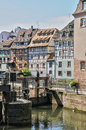 Alsace, old and historical district in Strasbourg Stock Photo