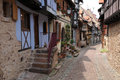 Alsace the picturesque old village of eguisheim france Stock Image