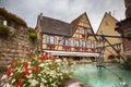 Alsace village eguisheim in strasbourg region Royalty Free Stock Image