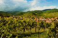 Alsace village in summertime Royalty Free Stock Photo