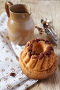 Alsatian cuisine kouglof traditional pastry with raisins and almonds Stock Photography