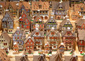 Alsatian houses traditional on the christmas market Royalty Free Stock Photo