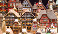 Alsatian houses traditional on the christmas market Royalty Free Stock Photography
