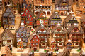 Alsatian houses traditional on the christmas market Stock Image