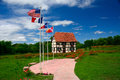 Alsatian park house and serves as the visitor center for the little alsace of texas Royalty Free Stock Photography