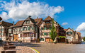 Alsatian style houses in Kintzheim, Alsace, France Royalty Free Stock Photo