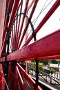 Isle of Man UK. The Laxey Wheel. Oldest working waterwheel in the world. Royalty Free Stock Photo