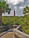 Ponce Inlet Lighthouse at New Smyrna Beach Royalty Free Stock Photo