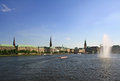 Alster lake Royalty Free Stock Photography