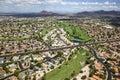 Alta mesa golf beautiful course near red mountain in east arizona Royalty Free Stock Photos