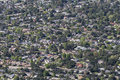Altadena california aerial suburban homes and streets in and pasadena in los angeles county Royalty Free Stock Photo