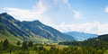 Altai mountain under blue sky with clouds Royalty Free Stock Photography