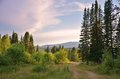 Altai mountains beautiful evening landscape in the Stock Image